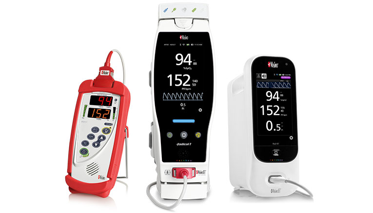 Masimo - family of products image with Radical-7 & Rad-97 and Rad-5