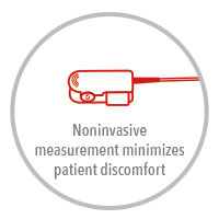 Masimo - Pronto Noninvasive  measurement minimizes patient discomfort