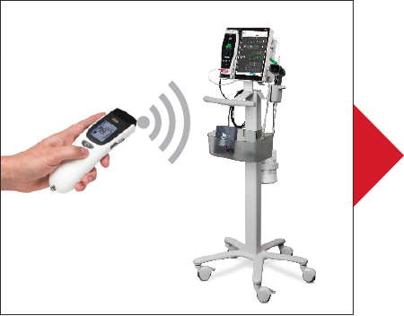 Masimo - CareGiver transferring data via Bluetooth